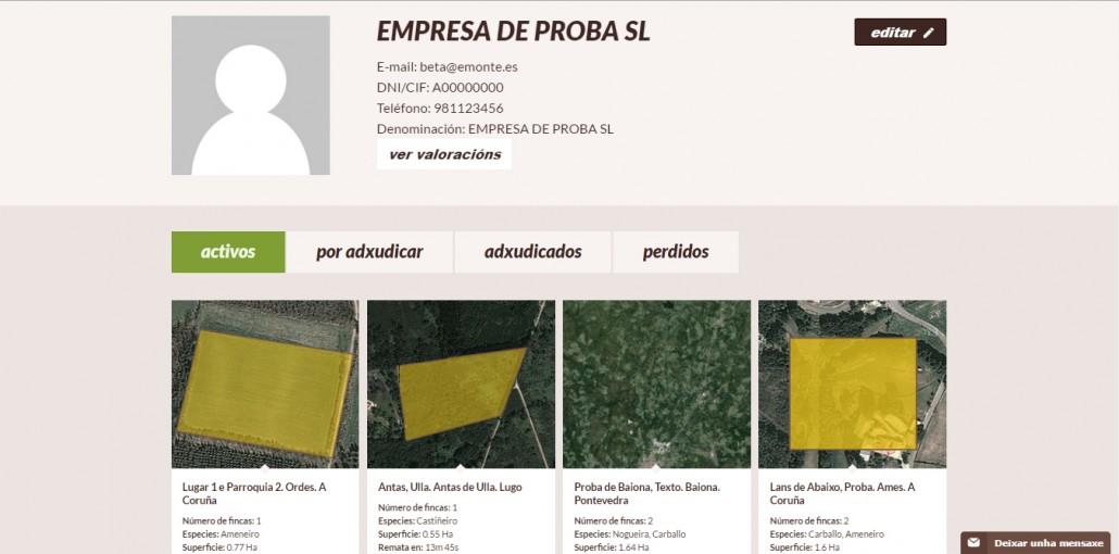 menu privado empresa